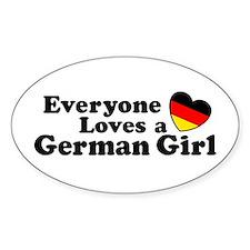 German Girl Decal