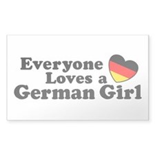German Girl Decal