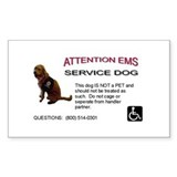 Sticker: EMS Notice