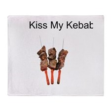 Kiss My Kababs Throw Blanket