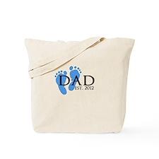 Dad Est 2012 Tote Bag