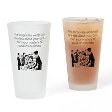Social Drunkenness Pint Glass