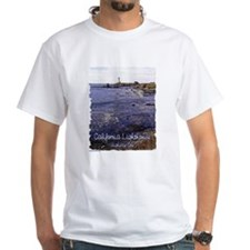 California Lighthouse t-shirt--white