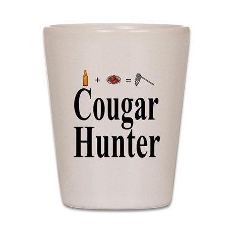 Cougar Hunter Shot Glass