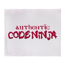 Authentic Code Ninja Throw Blanket