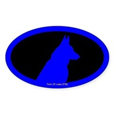 Police K9 Dog Head Blue 50 Pack Os Decal