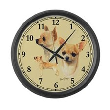 Chihuahua Large Wall Clock