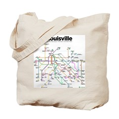 Louisville Transit Map tote bag