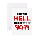 90th Birthday Gag Gift Greeting Cards (Pk of 10)