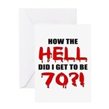 70th Birthday Gag Gift Greeting Card