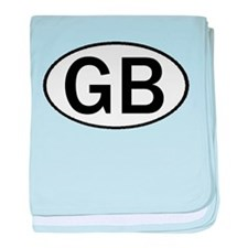 GREAT BRITAIN OVAL STICKERS & baby blanket