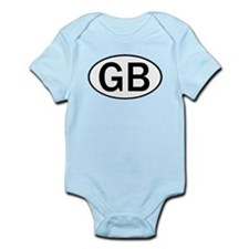 GREAT BRITAIN OVAL STICKERS & Infant Bodysuit