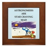 astronomy joke Framed Tile