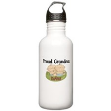 Proud Grandma Twins Water Bottle