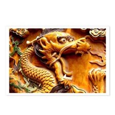 Golden Dragon Postcards (Pack of 8)