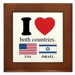 USA-ISRAEL Framed Tile