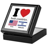 USA-ISRAEL Keepsake Box