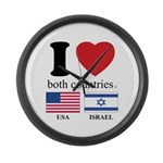 USA-ISRAEL Large Wall Clock