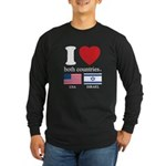 USA-ISRAEL Long Sleeve Dark T-Shirt