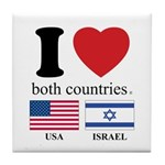 USA-ISRAEL Tile Coaster