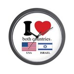 USA-ISRAEL Wall Clock