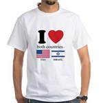 USA-ISRAEL White T-Shirt