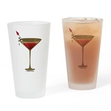 Gold Speartini Pint Glass