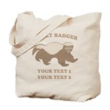 Personalize Honey Badger Tote Bag