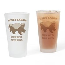 Personalize Honey Badger Drinking Glass