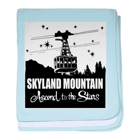 Skyland Mountain Souvenir baby blanket