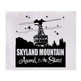 Skyland Mountain Souvenir Throw Blanket