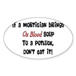 Funeral Director/Mortician Sticker (Oval 10 pk)