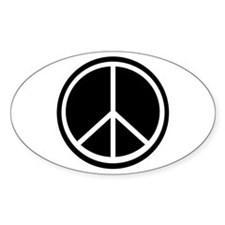 Peace Symbol Black and White Decal