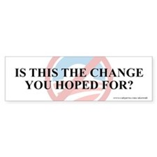 Change Hoped For, Bumper Sticker