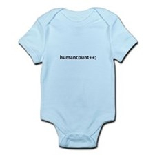 humancount++; Infant Bodysuit