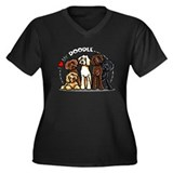 Love Labradoodles Women's Plus Size V-Neck Dark T-