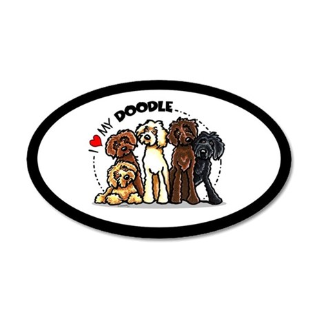 Love Labradoodles 20x12 Oval Wall Decal