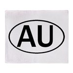AUSTRALIA OVAL STICKERS & MOR Throw Blanket