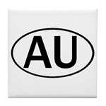 AUSTRALIA OVAL STICKERS & MOR Tile Coaster