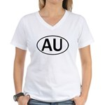 AUSTRALIA OVAL STICKERS & MOR Women's V-Neck T-Shi