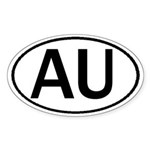 AUSTRALIA OVAL STICKERS & MOR Sticker (Oval)