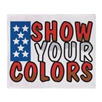 Show Your Colors Throw Blanket