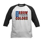 Show Your Colors Kids Baseball Jersey