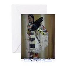 Cute Native american art Greeting Cards (Pk of 10)