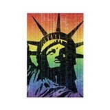 Rainbow Liberty 'Vintage' Rectangle Magnet