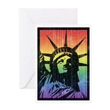 Rainbow Liberty 'Vintage' Greeting Card