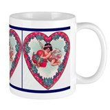 Cupid in a Heart Mug