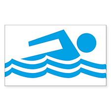 Swimmer Sticker (Rectangle)