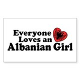Albanian Girl Decal