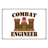 US Army Combat Engineer Gold Banner